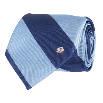 Cotton Boll Tie: Blue & Navy